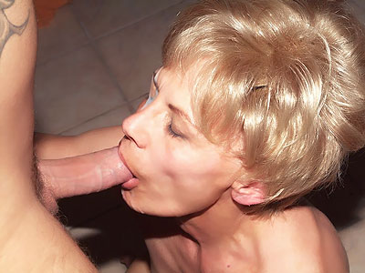 Mature lalin girl Slurps Cock